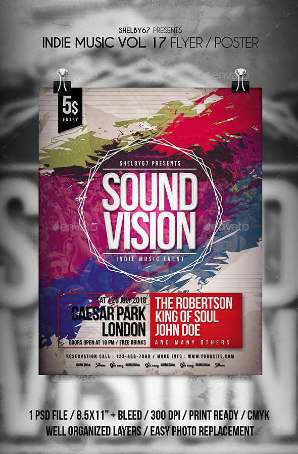 Indie Music Flyer Poster Vol 17 - Events Flyers