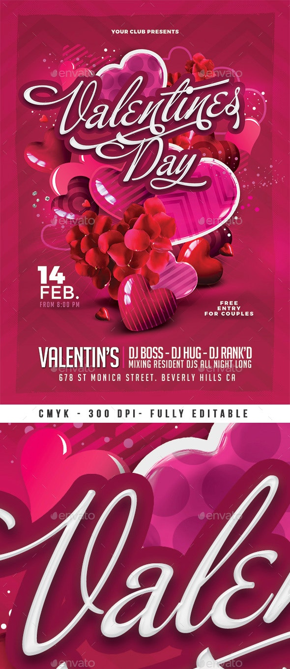 St Valentine Day Flyer - Clubs & Parties Events