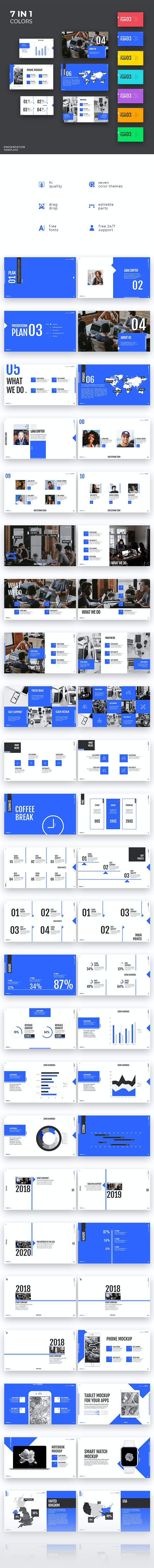 7 in 1 - My Project Pro - Keynote Template - Business Keynote Templates