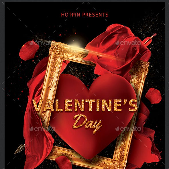 Classy Valentines Day Party Flyer