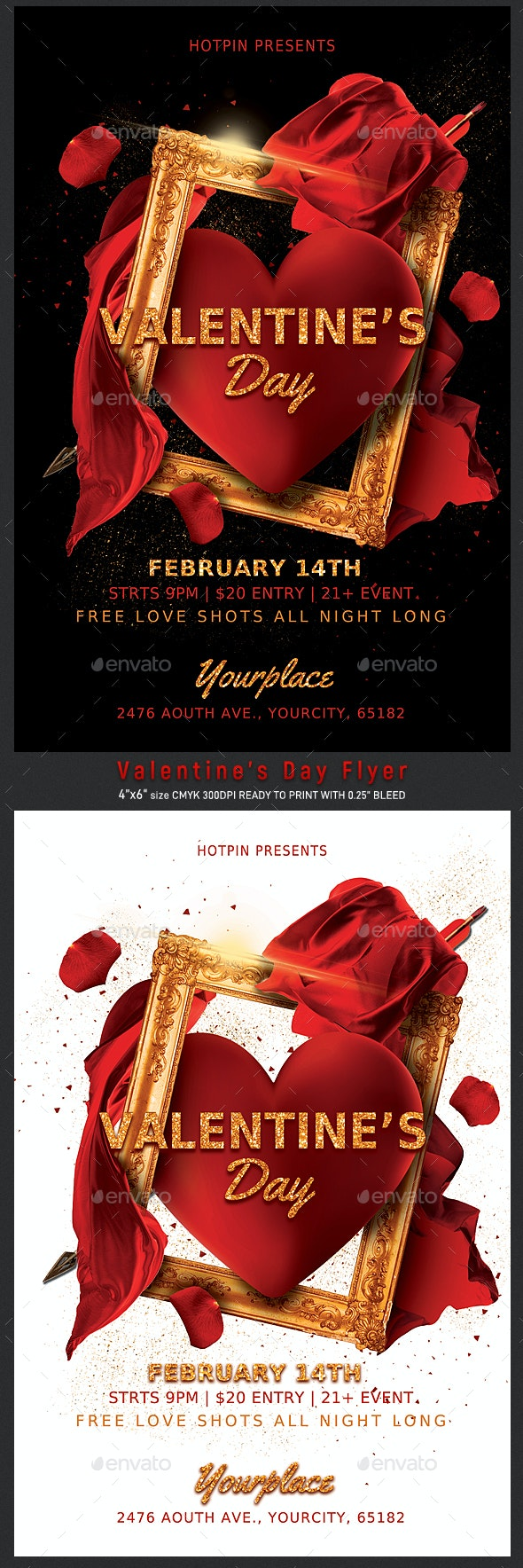 Classy Valentines Day Party Flyer - Clubs & Parties Events