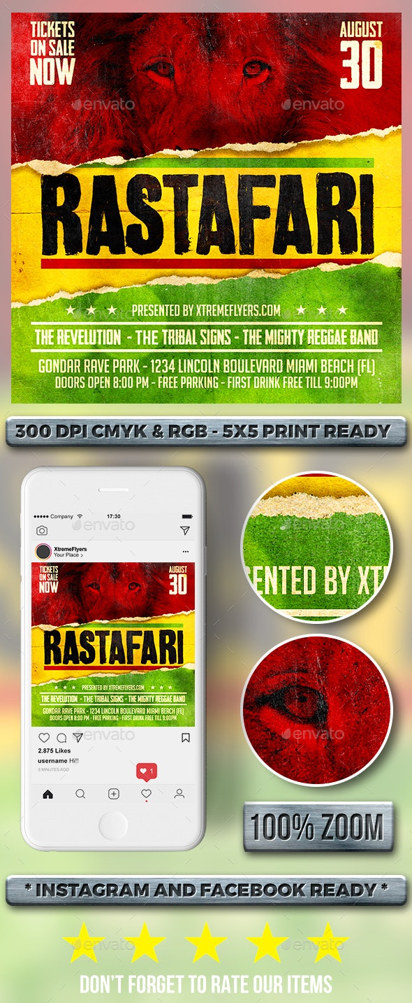 Reggae Flyer - Clubs & Parties Events
