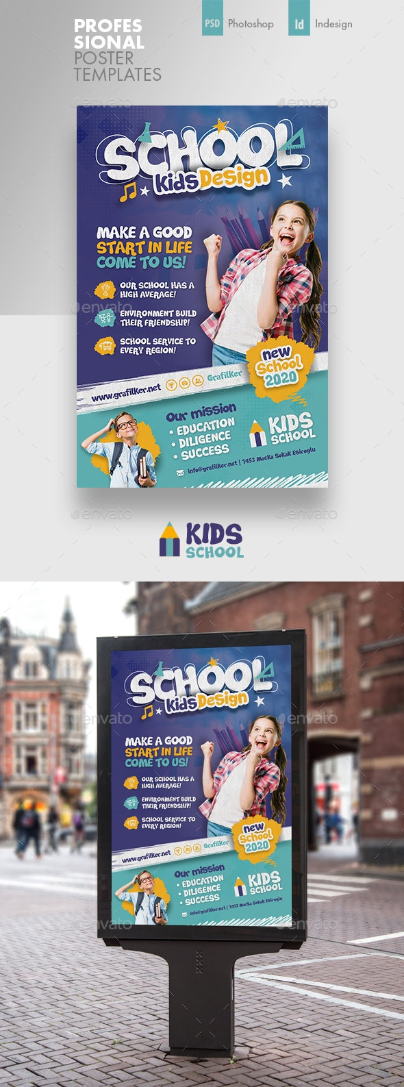 Kids School Poster Templates - Signage Print Templates