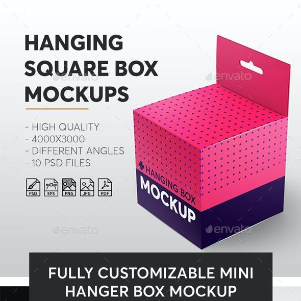 Hanging Square Box Mockups V1