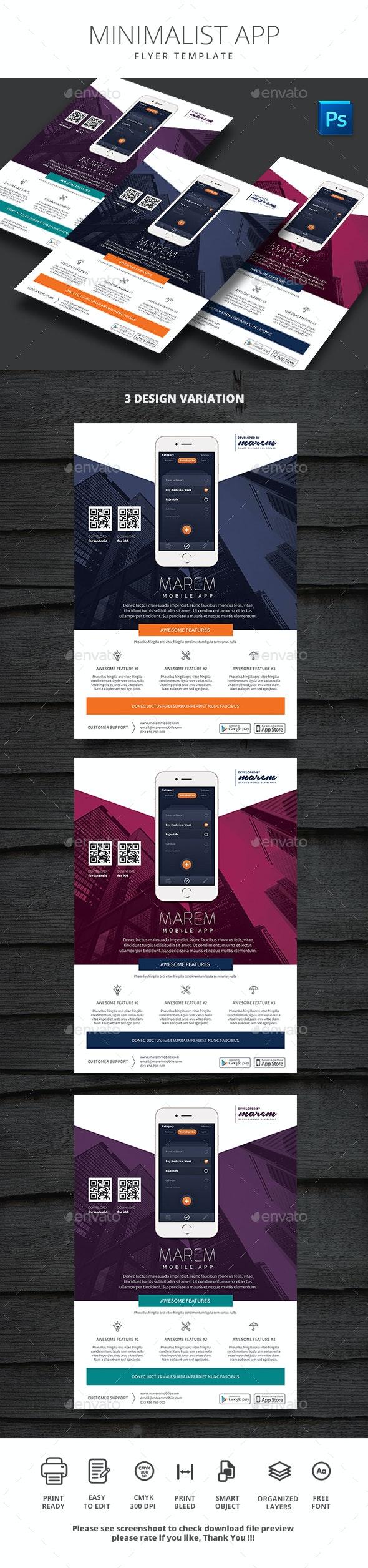 Minimalist App - Flyers Print Templates