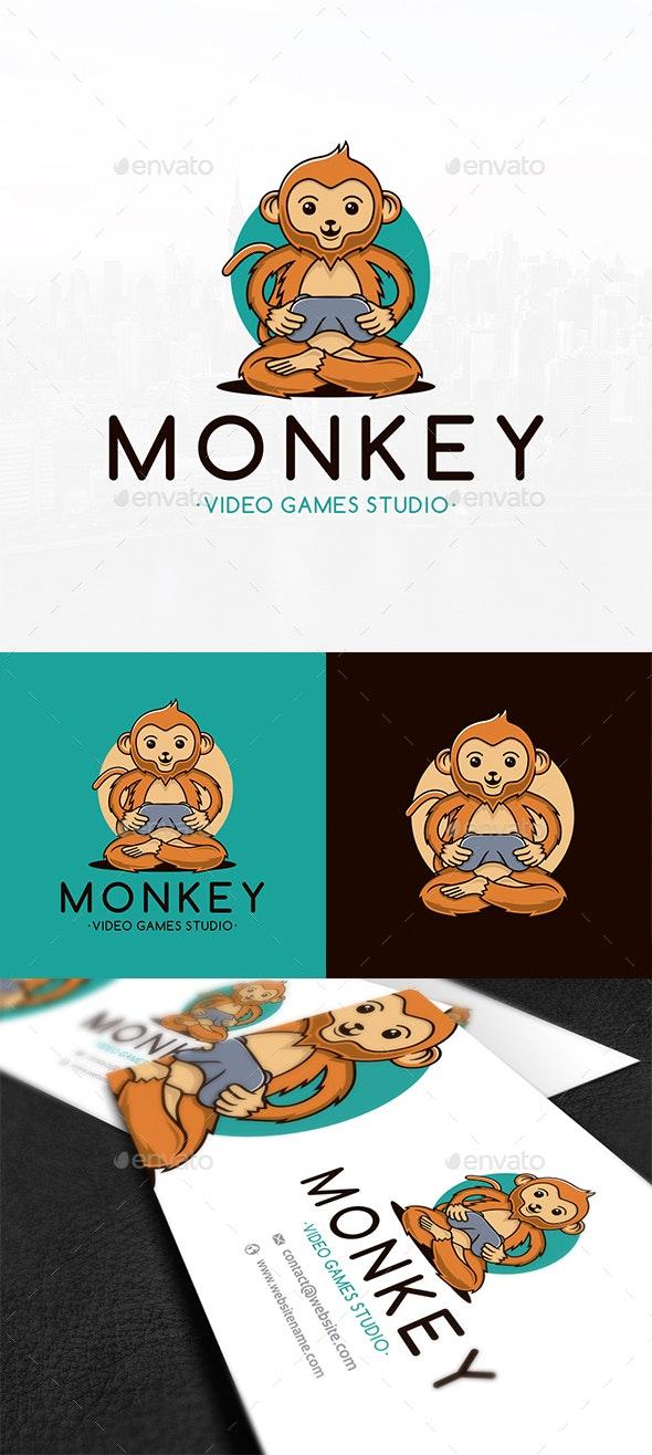 Monkey Gamer Logo Template - Animals Logo Templates