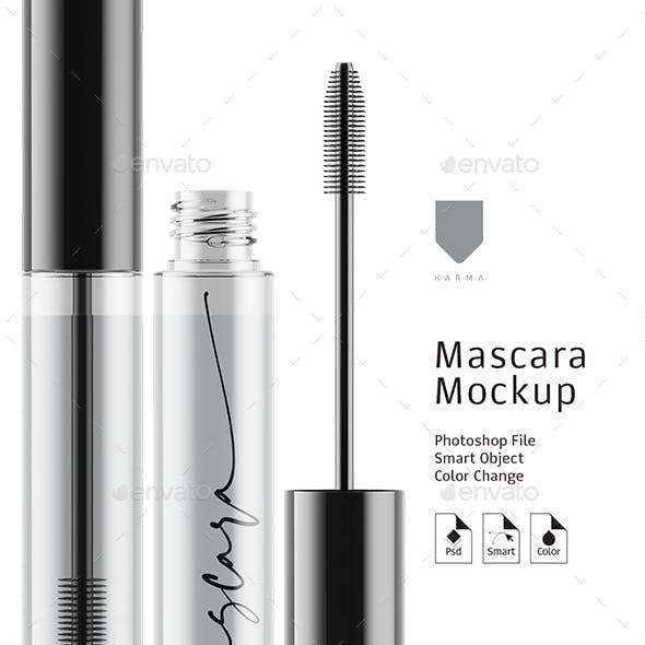 Mascara Mockup Glass