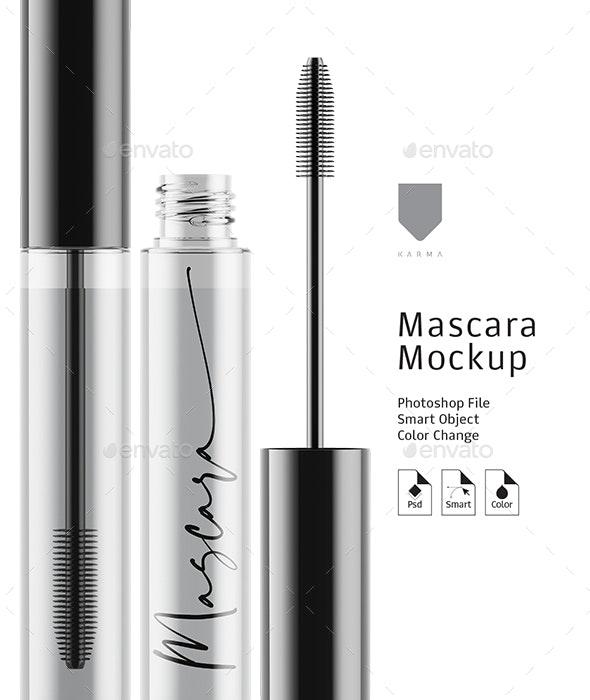 Mascara Mockup Glass - Beauty Packaging