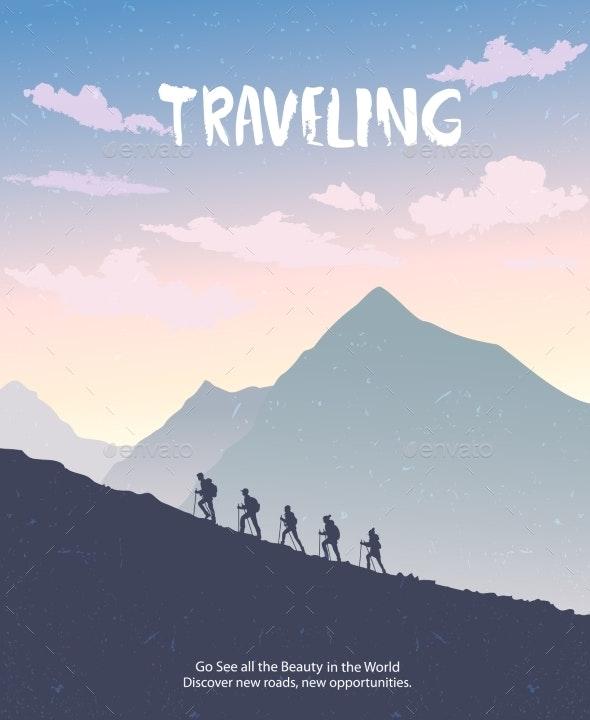 Climbing Mountains - Sports/Activity Conceptual