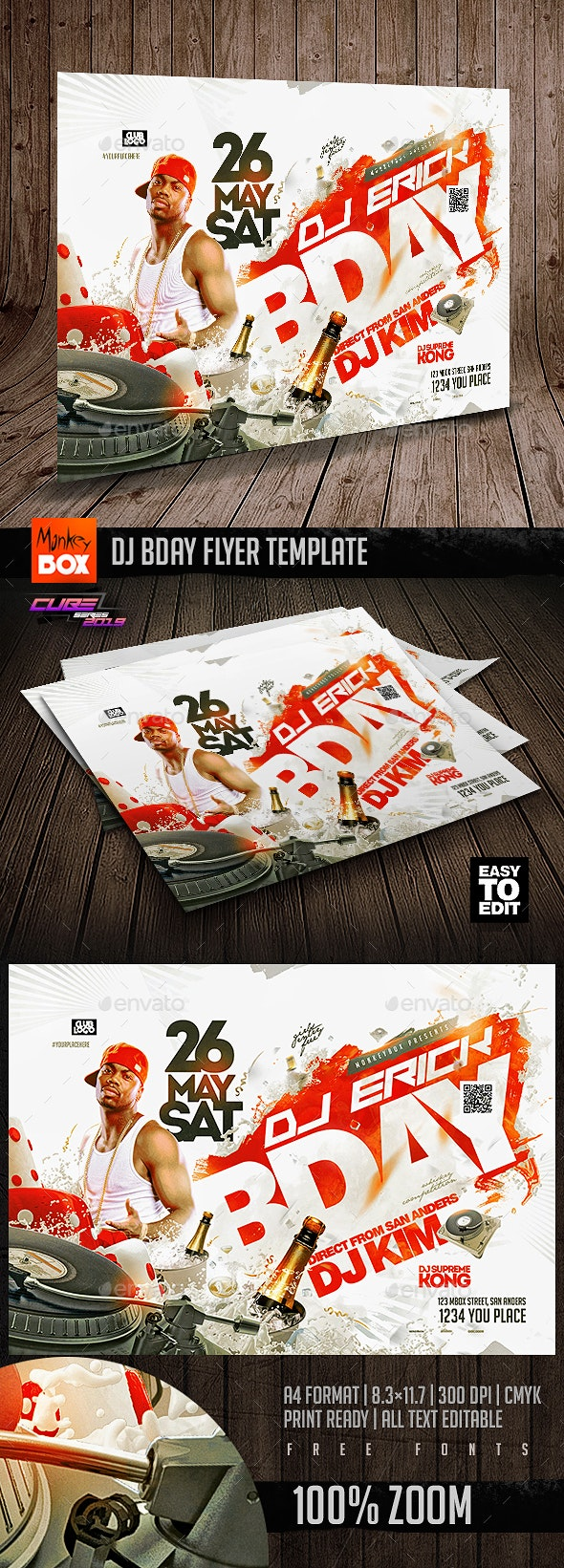 Dj Bday Flyer Template - Clubs & Parties Events