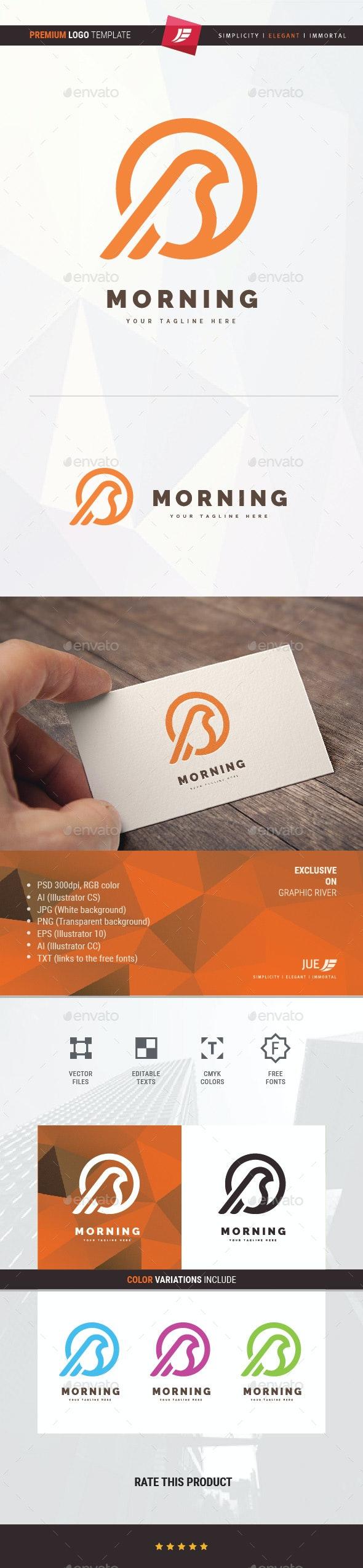Morning Bird Logo - Animals Logo Templates