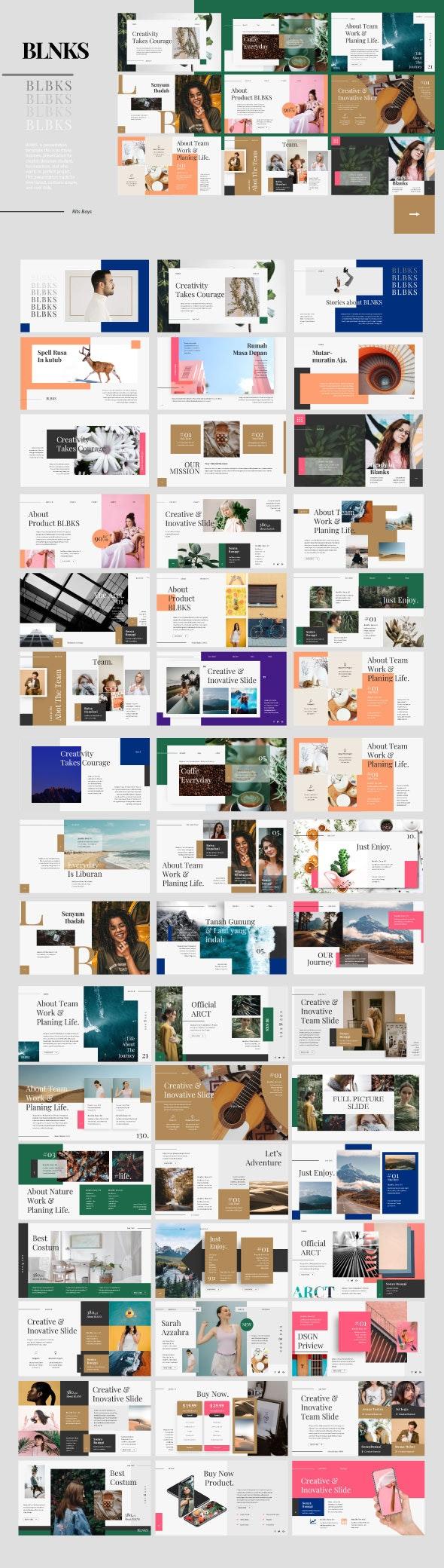 Blnks Google Slide Template - Google Slides Presentation Templates