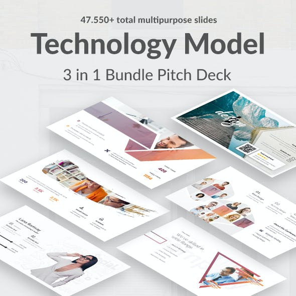 3 in 1 Technology Model Bundle Pitch Deck Keynote Template