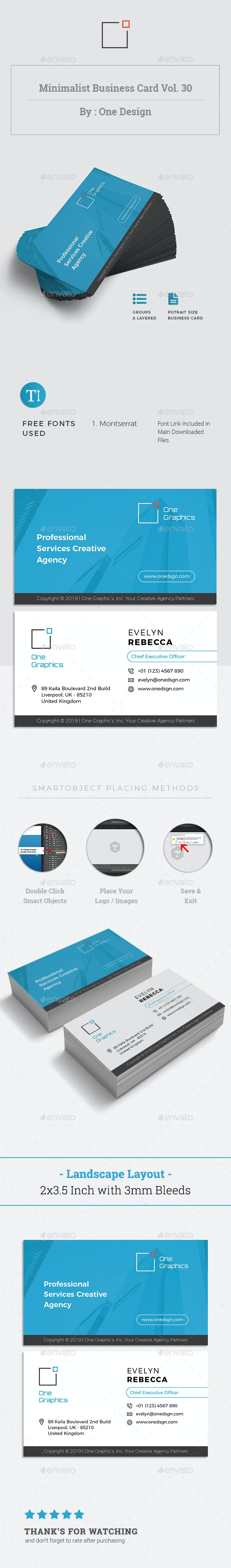 Minimalist Business Card Vol. 30 - Business Cards Print Templates