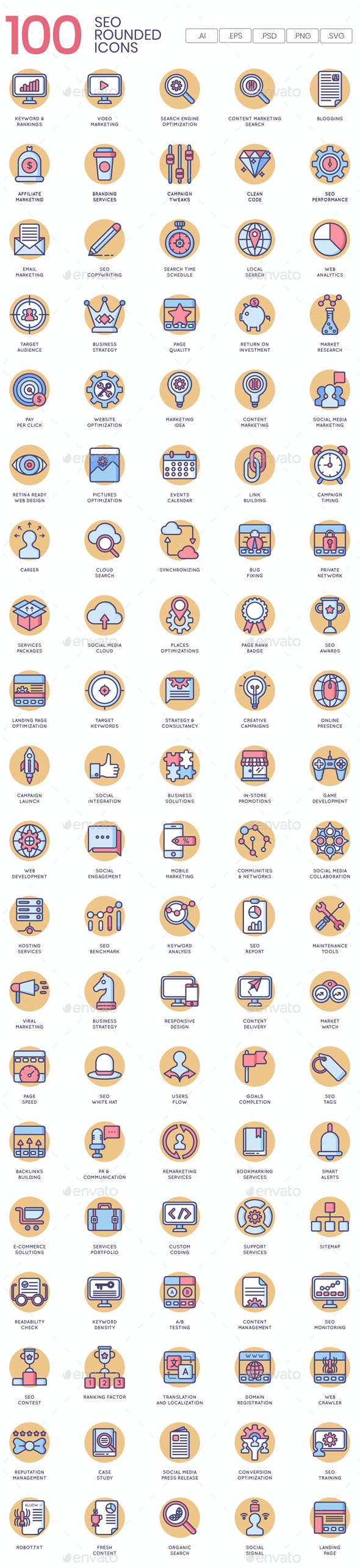 SEO Icons - Butterscotch Series - Web Icons