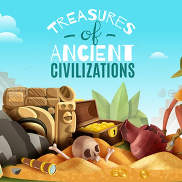 Archeology Ancient Treasures Background