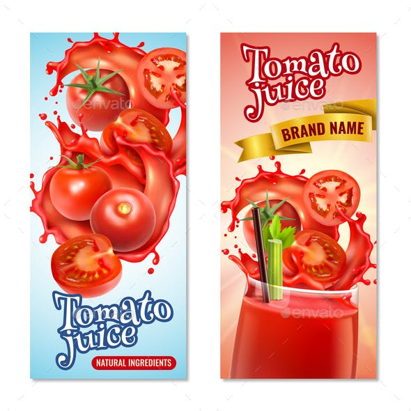 Tomato Juice Vertical Banners