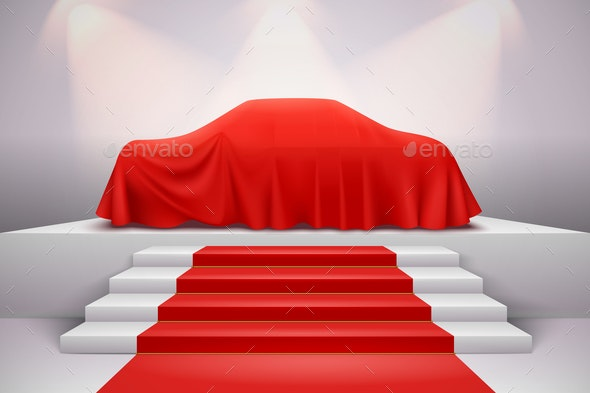 Cloth Covered Car Presentation - Man-made Objects Objects