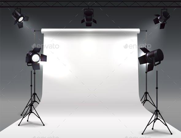 Shooting Studio Lights Composition