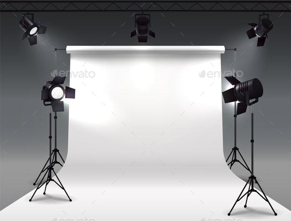 Shooting Studio Lights Composition - Miscellaneous Vectors
