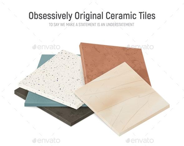 Original Facing Tiles Background - Miscellaneous Vectors