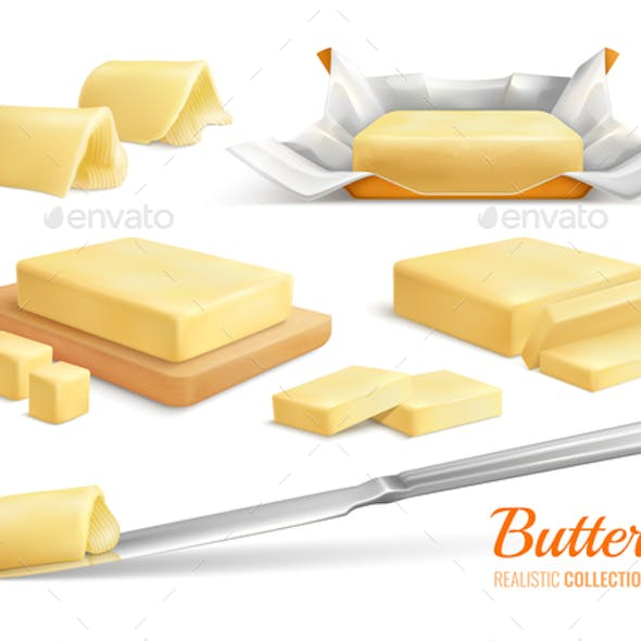 Butter Realistic Set
