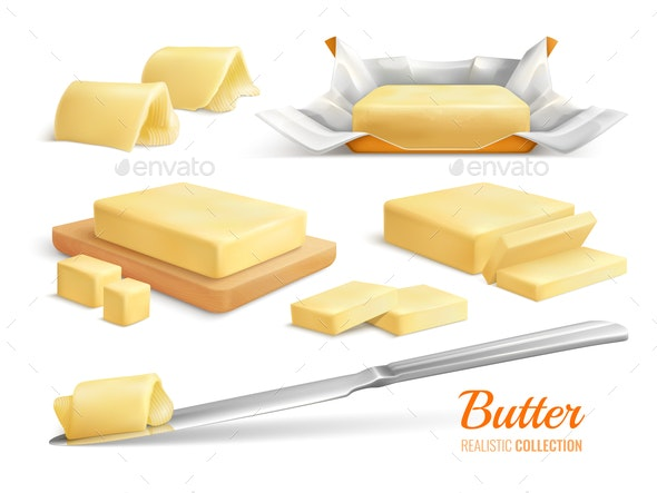 Butter Realistic Set - Food Objects