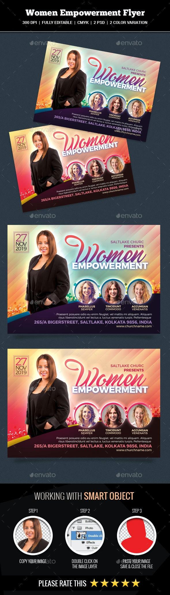 Women Empowerment Flyer - Church Flyers