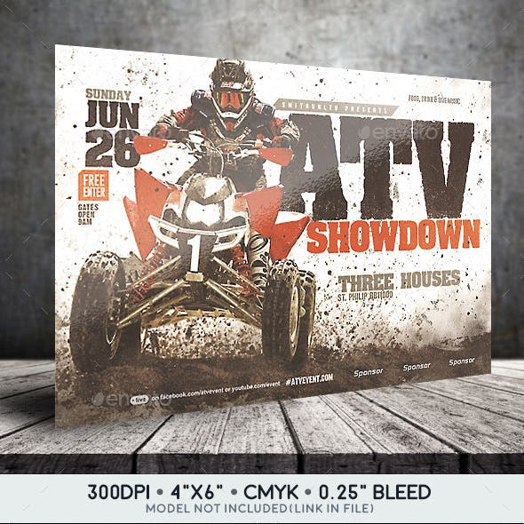 ATV/Motocross Showdown Flyer - Horizontal