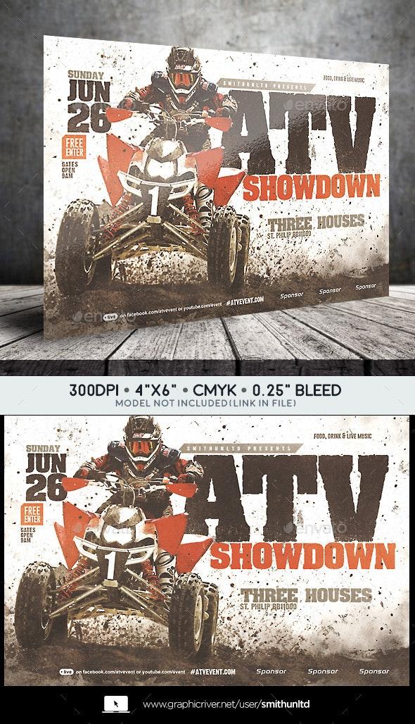 ATV/Motocross Showdown Flyer - Horizontal - Miscellaneous Events