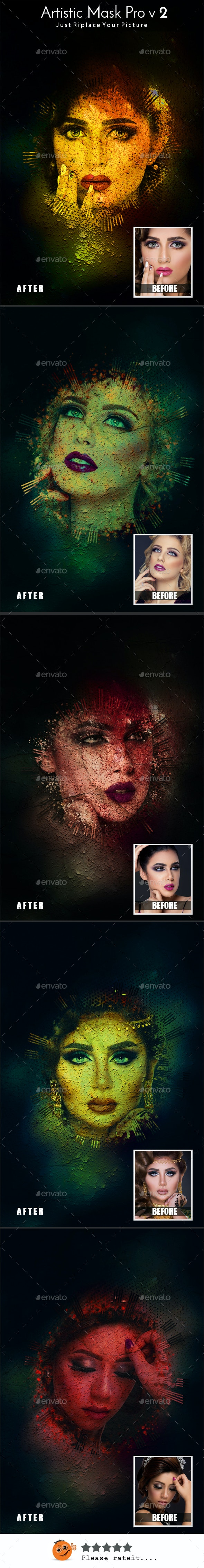 Artistic Mask Pro V2 - Photo Templates Graphics