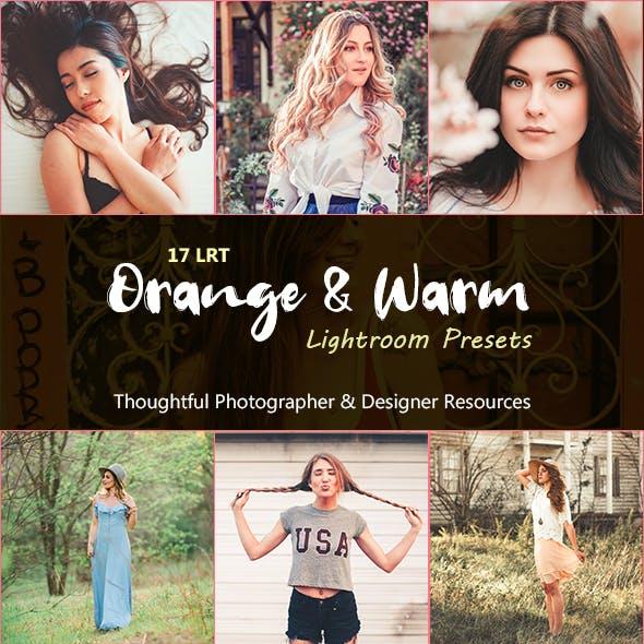 Orange & Warm Lightroom Presets