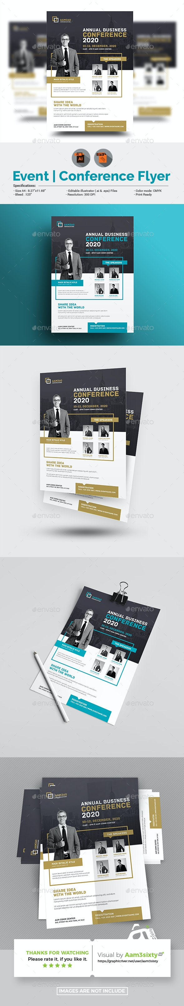 Conference / Event Flyer Template - Corporate Flyers