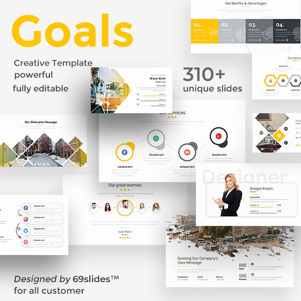 Goals Setting Pitch Deck Powerpoint Template