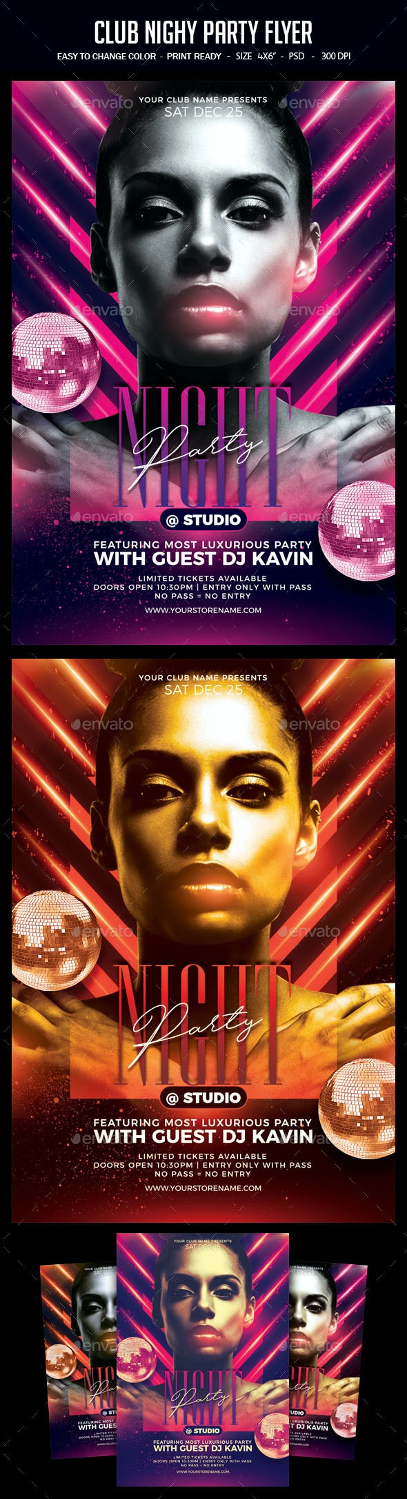 Club Nighy Party Flyer - Clubs & Parties Events