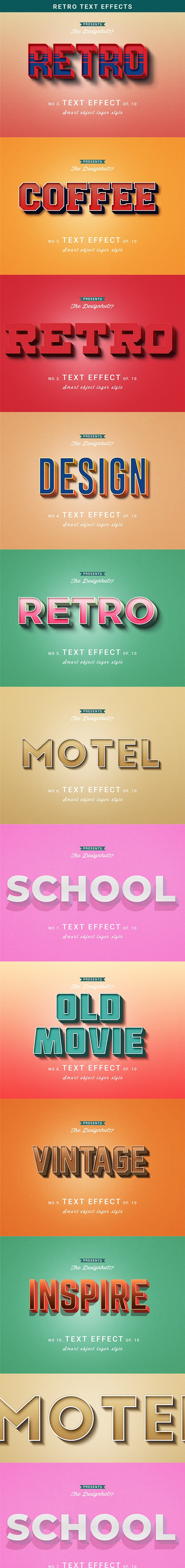 Retro Text Effect - Text Effects Actions