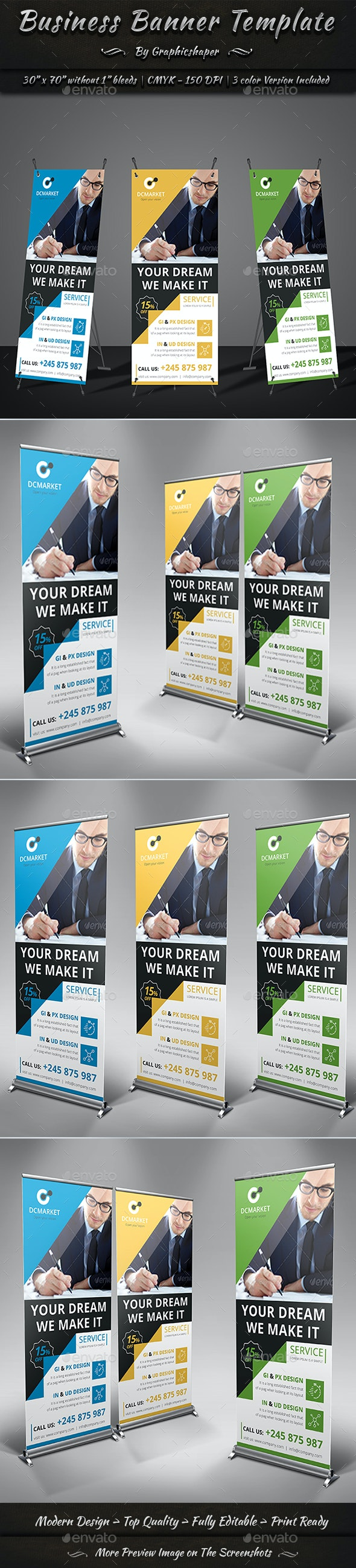 Business Banner Template - Signage Print Templates
