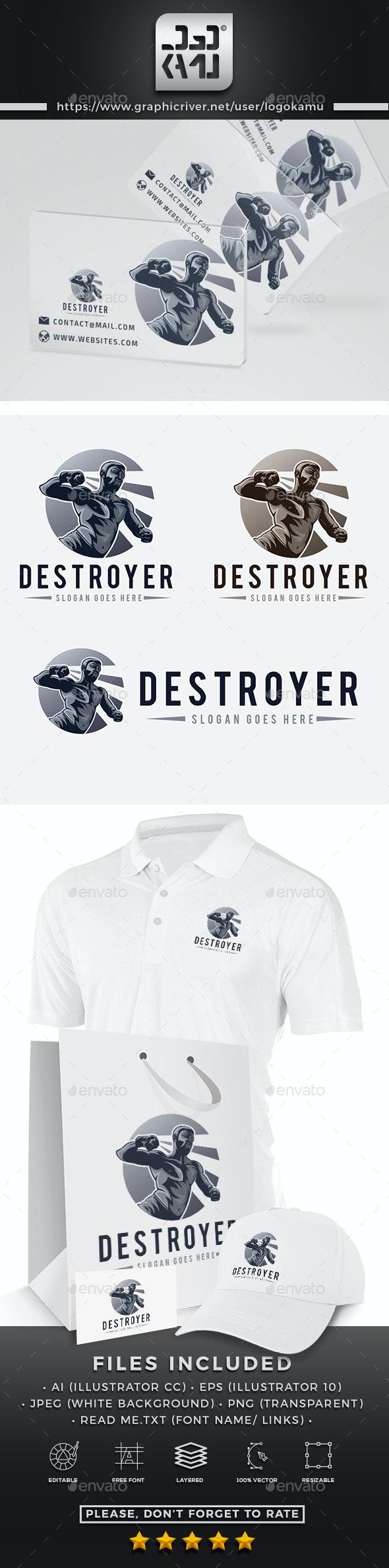 Destroyer Fighter Logo - Humans Logo Templates
