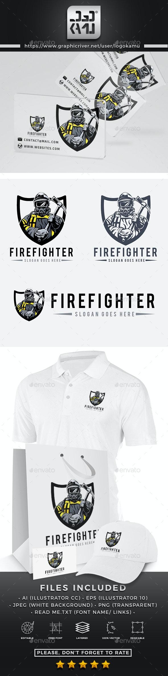Firefighter Logo - Humans Logo Templates