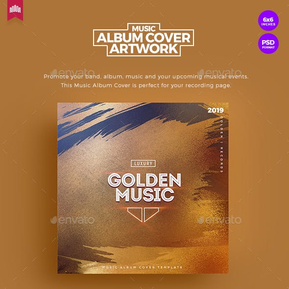 Golden Music - Music Album Cover Artwork
