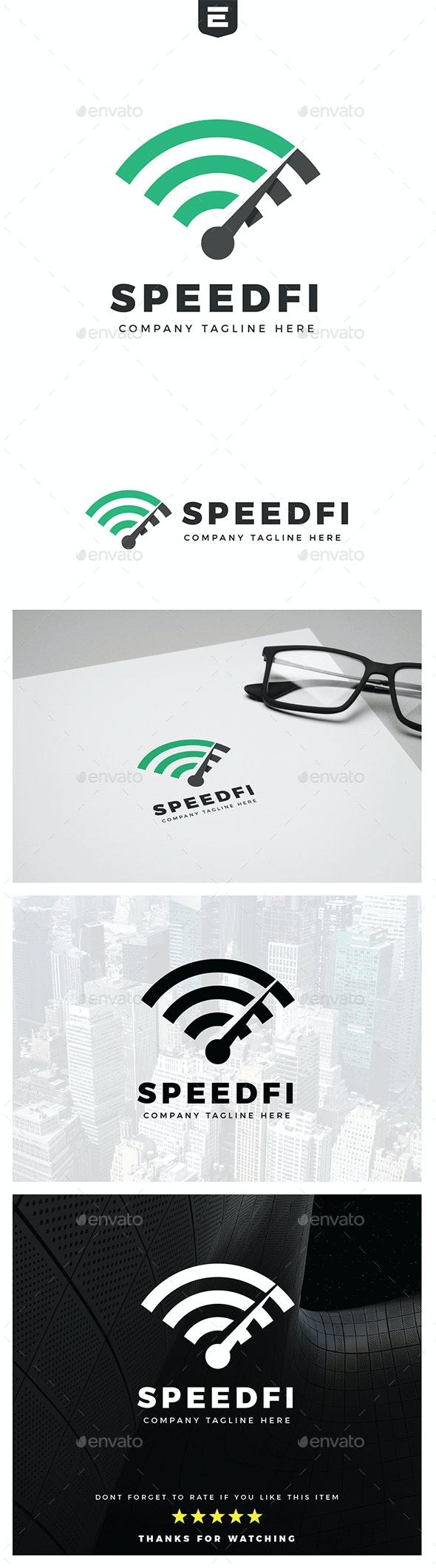 High Speed Wifi - Symbols Logo Templates