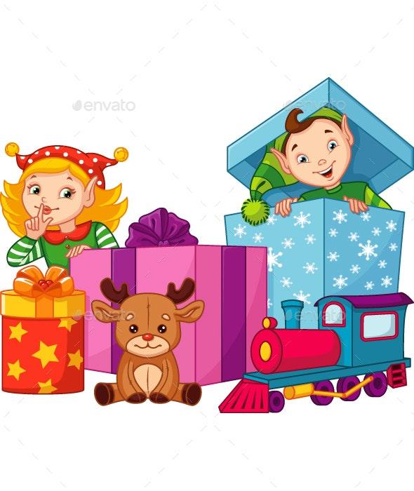 Christmas Elves - Christmas Seasons/Holidays