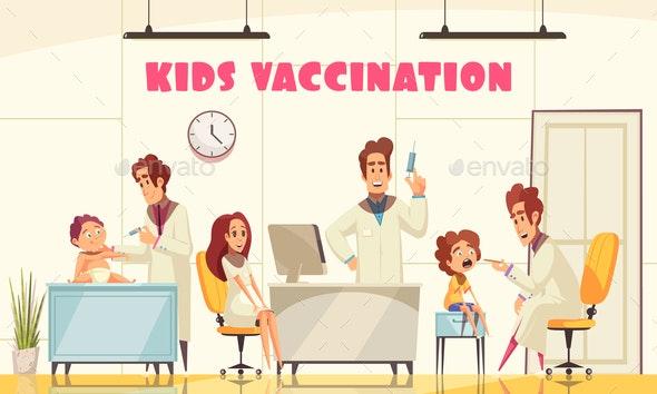 Kids Vaccination Poster - Health/Medicine Conceptual