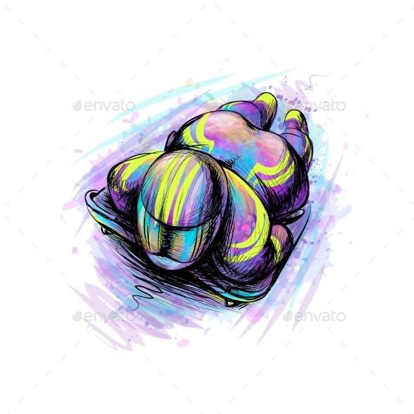 Skeleton From Splash of Watercolors