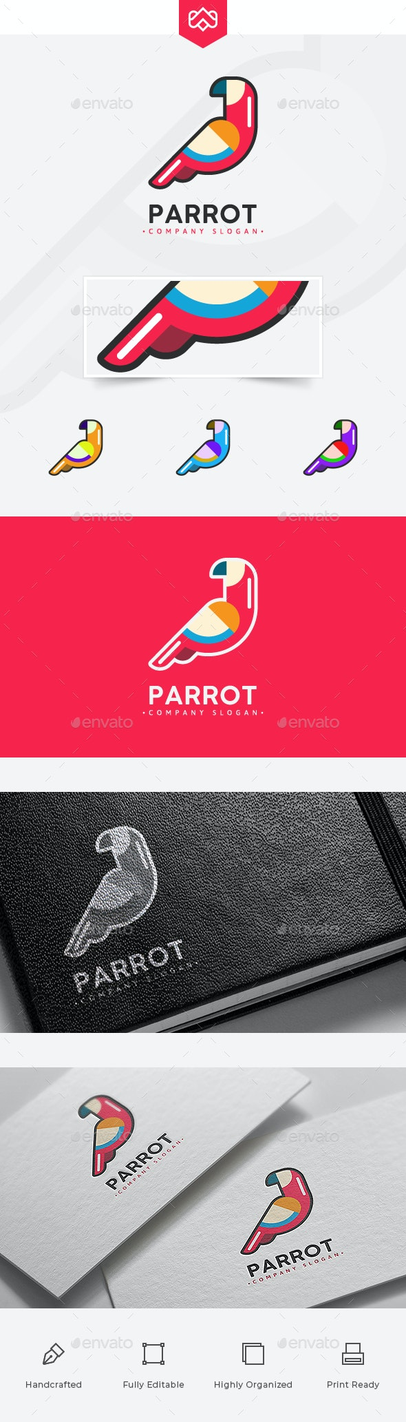 Parrot Logo - Animals Logo Templates