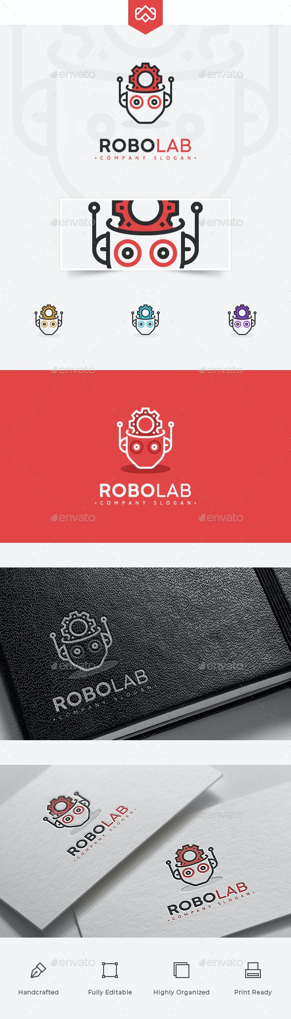 Robot Lab Logo - Objects Logo Templates