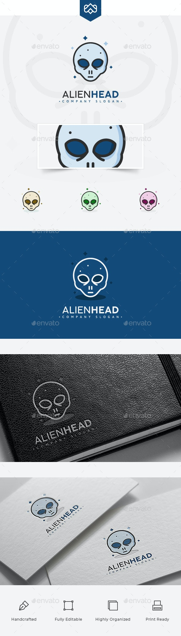 Alien Logo - Vector Abstract