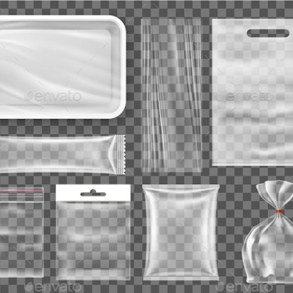Transparent Empty Plastic Food Packaging Set