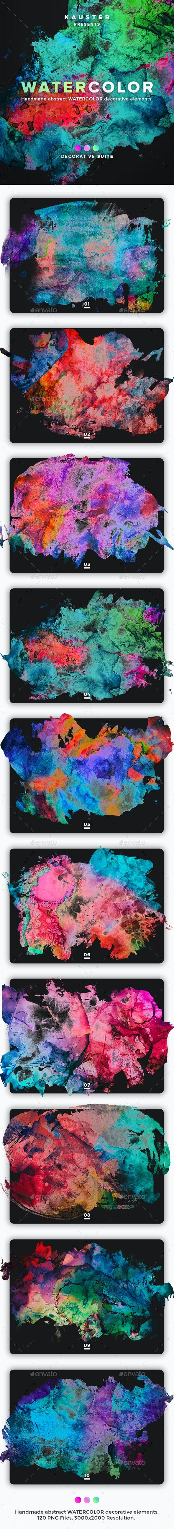 Watercolor Decorative Suite - Backgrounds Decorative