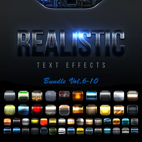 Realistic Text Effects Bundle II